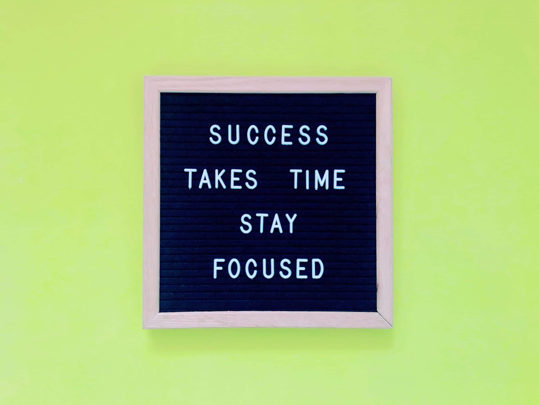 Een succes worden kost tijd