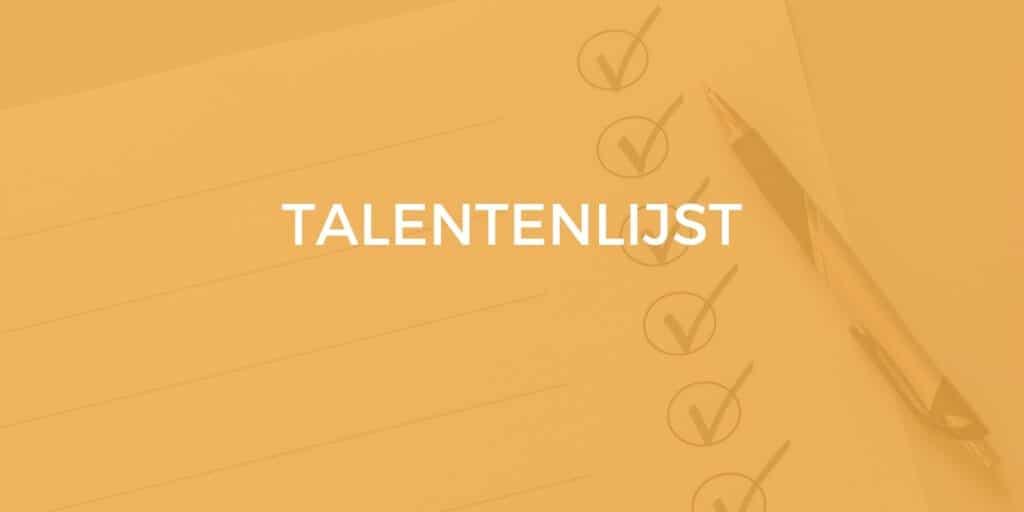 talentenlijst
